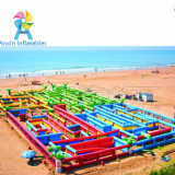 60x30M largest outdoor inflatable maze for adults