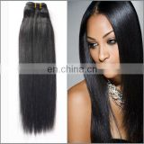 Wholesale natural color yaki straight hair extension 100% real raw idian human hair