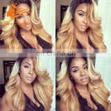 body wave brazilian 7A quality human full lace wig, swiss lace hair wig in stock
