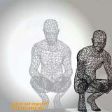 Customized Steel Wire Mesh Hollow Sculpture Animal or People Garden decoration