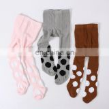 Spring and autumn children pantyhose new feather dot baby high waist pantyhose Girls Tights wholesale
