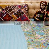 Beautiful Vintage Hand Stitched Kantha Quilt Bohemian Bedding Indian Ethnic Throw King Size Unique Quilt