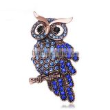 Vintage rhinestone owl brooch,fashion brooches for mens suits