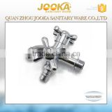 3 way double spout handle washing machine faucet with dual handle