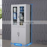 RAL 7035 glass door metal display bookcase office filing cabinet metal file cabinet for office use