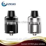 Alibaba Express Geekvape New Product Geekvape Tsunami 24 Glass Tank RDA Atomizer from CACUQ