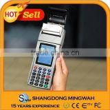 Handheld mobile pos terminal with printer