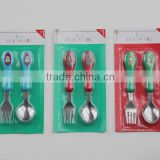 Colorful Plastic Handle Stainless Steel Cutlery set,Flatware for kids