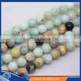 8mm natural colorful amazonite loose beads round gemstone beads for sale