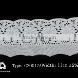 2015100% Cotton New arrival lace trim fabric women wedding gowns elastic lace many color and style