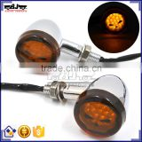 BJ-SL-062 Universal E-Mark Chrome Aluminum Amber Motorbike LED Light Motorcycle Turn Signal