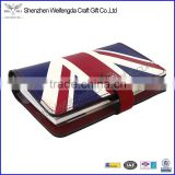 New design promotion pretty leather agenda 2016 with flag printing
