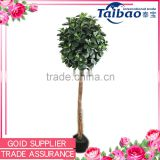 6 ft nearly natural green banyan ball topiary silk plant for home decoration