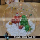 Mall atrium & indoor glass fiber reinforced plastic hanging christmas decoration with christmas tree and balls