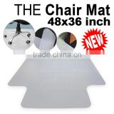 "Chair Floor Mat with Lip Tile Carpet Protector 48"" x 36"" PVC Home Office"