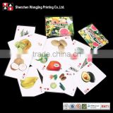Playing Card for Children fancy ,full color Cartoon for Studying Card,Children playing cartoon card and box printing