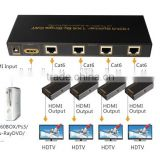 Newfashioned cat6 HDMI 1x4 Extender over single 5E/6 cable 60m manufacturer&supplier&exporter