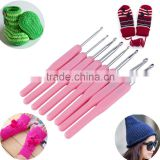 8 Size Soft Plastic Handle Multicolor Knitting Needles Mied Aluminum Crochet Hook Knit Needle Set Sewing Tools 2.5-6mm