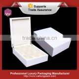 handmade white lacquer wooden gift box for tea bags