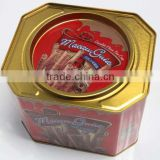 Alibaba China/ express/ 2014new export/health/Solid/Clamshell Cookies/biscuit tin boxes/cans/pots for gum/mints/candy/Cookies