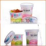 Custom high quality low price food paper ice cream cup paper with ice cream cup paper lid