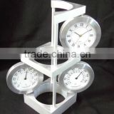 metal aluminium art craft weather station business gifts set clock
