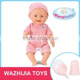 Doll factory wholesale 12 inch lovely educational baby doll toy game with IC