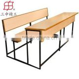 cheap attached school furniture type school desk and chair,school desk for kids ,middle school and university