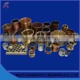 strong brass solid lubricant embeded bushing 18 * 24 * 30 mm diameter cylindrical sliding bearing sleeves in casting machine