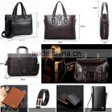 European and American fashion business men hand-woven handbag embossed leather man bag briefcase computer bag
