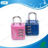 AJF High quality 3 digits metal travel number code combination bag lock padlock                                                                         Quality Choice
