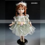 Beautiful cute girl model porcelain doll 16 inch collectible porcelain doll