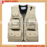 Custom Accepted Outdoor Men Camping Hunting Multi Pocket Travel Fishing Vest                                                                         Quality Choice