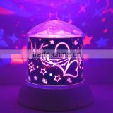 Led Falling star sky flash led christmas lids gift rotating indoor decorative lamp light