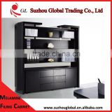 black office wooden filing cabinet