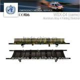 camo stretcher aluminum alloy folding stretcher; hand frame; military standard; troops use; emergency transfer