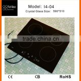2015 new design china supplier schott ceran glass metal cover 4 zones eurokera induction cooktop in small kitchen appliance