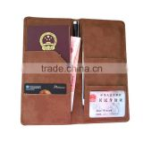 Crazy horse style unisex gender card holder rfid leather passport wallet                                                                         Quality Choice