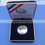 custom shiny silver baseball metal coins