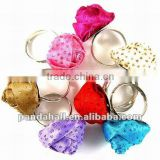 Fashion Alloy Flower Finger Jewelry Rings(RJEW-R038)