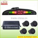 LED ultrasonic distance sensor blind spot assist system