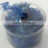 HOT SALE! 7 Yards Shiny Blue Mini Star Christmas Tinsel Garland for Gift Wrapping Decorations