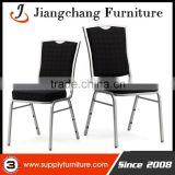 Cheap Black Leather Stacking Steel Banquet Chairs JC-G54                                                                         Quality Choice