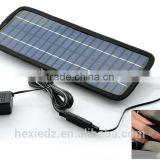 3.5w 18v Emergency Solar Battery Charger - USB, 12v Cigarette Lighter Adapter connector cable