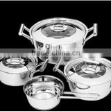 7pcs hot sale stainless steel cookware sets german brands appliances