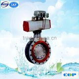 triple metal seated water valve 300 LB 4'' butterfly valve