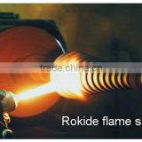 Rokide flame spraying to repair mechanical parts