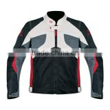 Breathable, waterproof inner, removable protectors motorcycle white jacket