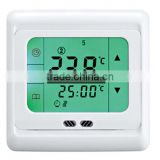 Underfloor Heating Thermostat Weekly Programmable Touch Screen Room Temperature Controller Thermostat Green Backlight