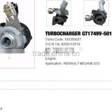 GT1749V- 5010S Turbo charger /Turbocharger for RENAULT MEGANE DCI